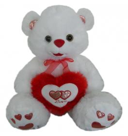 Белый мишка с сердцем